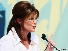 Sarah Palin endorsed Christine O'Donnell on Thursday.