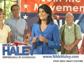 South Carolina gubernatorial candidate Nikki Haley is out Tuesday with her first TV ad of the general election.