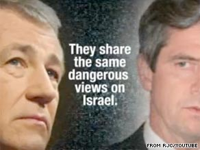 The Republican Jewish Council has a new Web ad out Tuesday slamming Democratic Senate candidate Joe Sestak and former Republican Sen. Chuck Hagel.