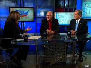  Dick Armey and Trent Lott spoke Sunday with CNNs Candy Crowley on State of the Union.