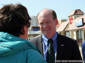 Delaware Senate candidate Chris Coons is now well-positioned to win the Senate seat formerly held by Vice President Joe Biden.