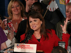 Christine O'Donnell said Wednesday that she has met an early fundraising goal.