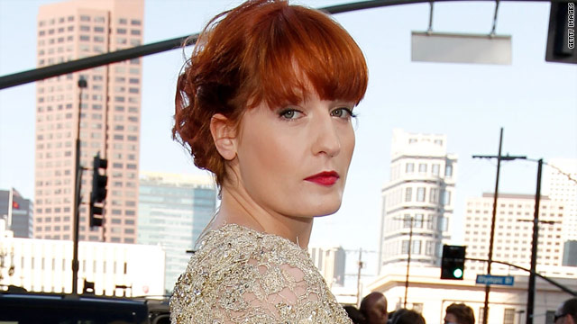 Florence + The Machine behind the scenes at the VMAs