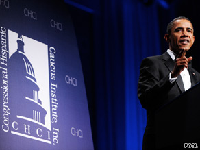 Obama told the Congressional Hispanic Caucus Institute's 33rd Annual Award Gala that Republicans were to blame for the failure to pass comprehensive immigration reform.