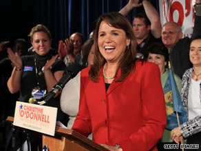 Christine O'Donnell's campaign said it raised $850,000 in the first 24 hours after her Delaware GOP primary victory.