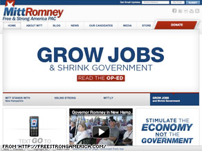 Mitt Romney&#039;s political action committee unveiled a new Web site Thursday.