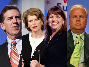 Talk of a potential GOP civil war and the Tea Party dominated the talk shows Sunday (Getty Images).