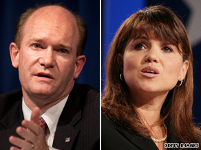 Delaware Senate candidates Chris Coons and Christine O'Donnell have accepted an invitation to debate on October 13.