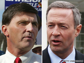 The Republican Governors Association has jumped into the Maryland gubernatorial race between Republican Robert Ehrlich (left) and Democrat Martin OMalley (right).