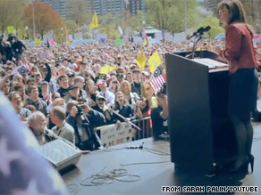 Sarah Palin released a new web video on Tuesday.