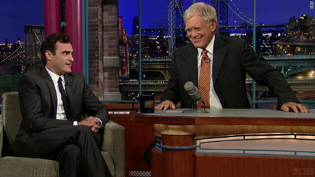 Joaquin Phoenix apologizes to Letterman