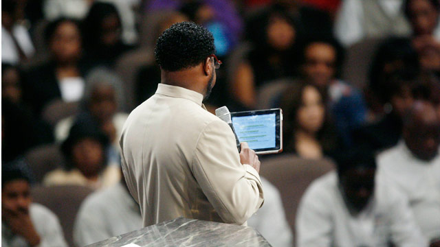 Reporter's notebook: Covering Eddie Long's service