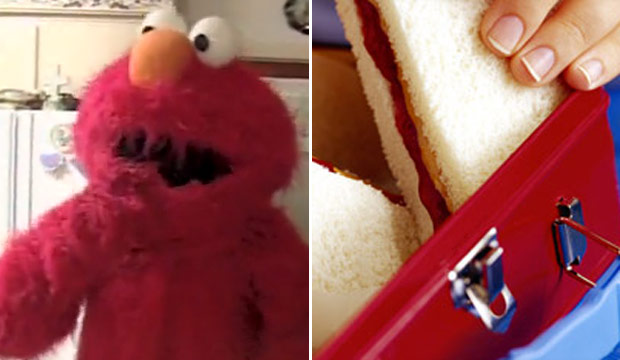 elmo and peanut butter