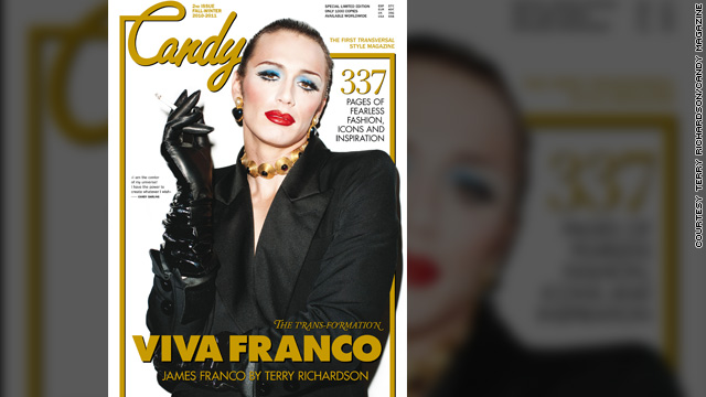 James Franco gets glam on the cover of 'Candy'