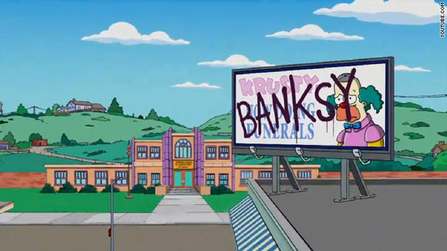 Banksy tags 'The Simpsons' opening sequence