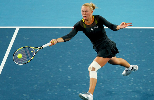 Caroline Wozniacki has risen to the top of women's tennis, but has yet to win a Grand Slam event.
