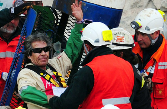 The rescue was a big day for Chileans – and Oakley, maker of the sunglasses worn by the 33 miners.