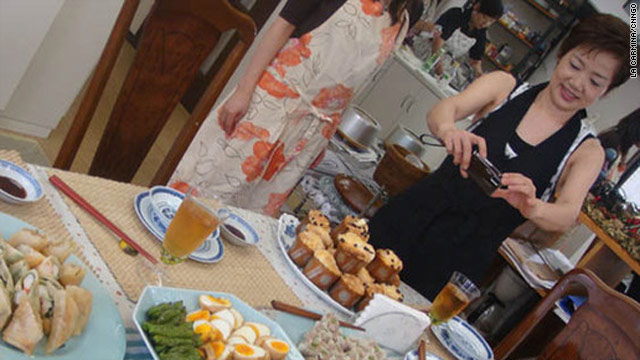 A cooking school for Japanese housewives