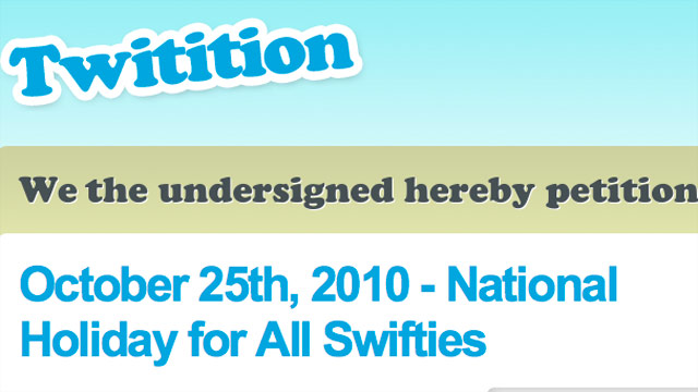 Taylor Swift fans petition for national holiday
