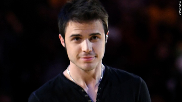 Kris Allen was caught sleepwalking in the buff