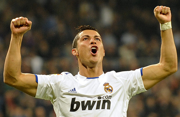 Cristiano Ronaldo celebrates another goal-scoring performance for Real Madrid.