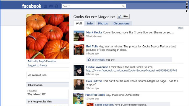 Cooks Source cribs blogger's work, suggests payment for the privilege