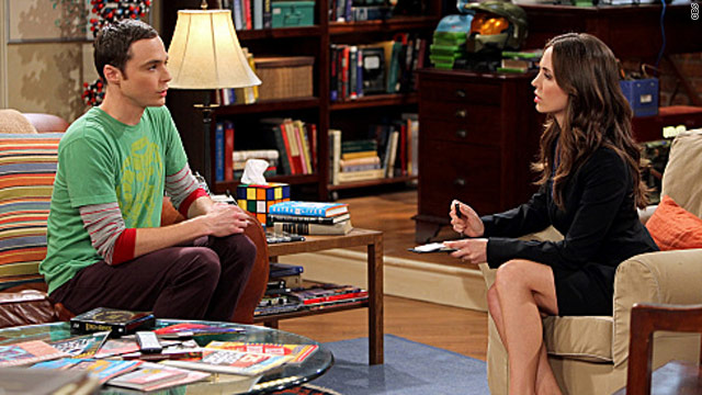 Dushku perfect straight gal on 'Big Bang Theory'