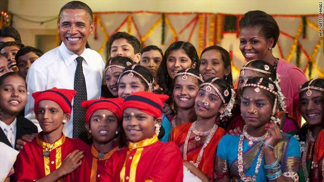 The Obamas celebrate Diwali