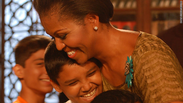 Remarks by Michelle Obama visiting children in Mumbai