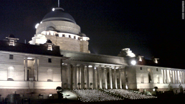 Images of India: President's Palace at night