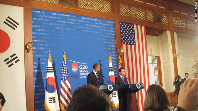 Press conference with President Obama and South Korean President Lee
