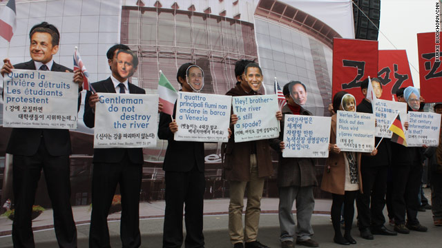 Images of Seoul: The leaders protest