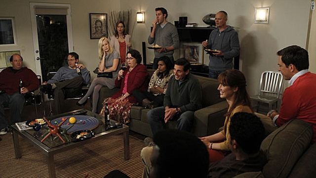 Watching 'Glee' on 'The Office'