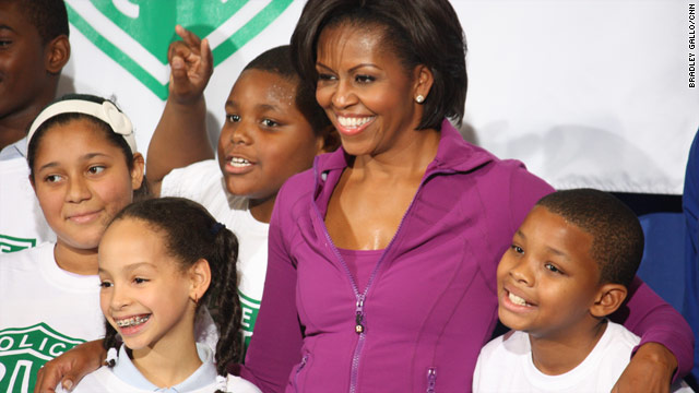 Michelle Obama pumps it up