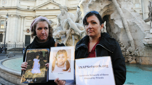 Church abuse victims speak out in Rome