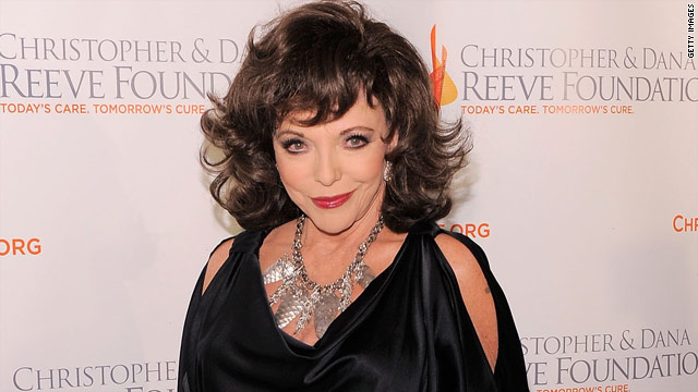 Stars come out for Joan Collins' one woman show