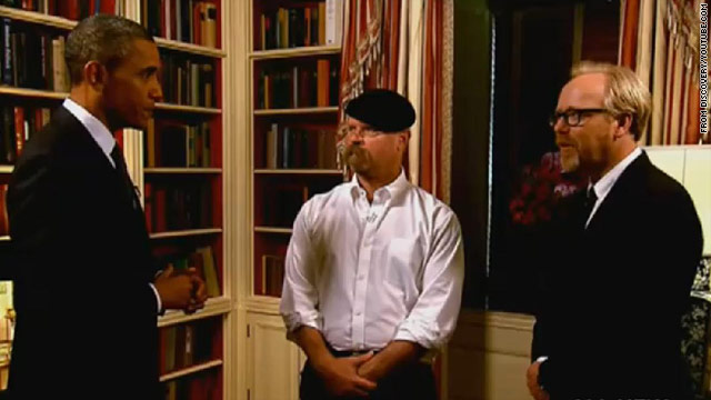President Obama gives 'Mythbusters' a hot mission