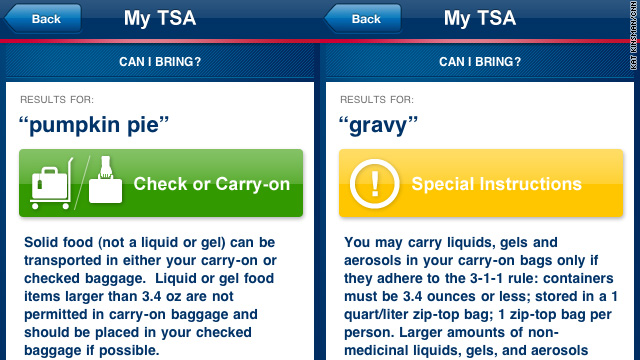 The TSA won't swipe your pie – but will they take the cake?