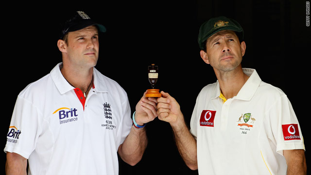 Opposing captains Andrew Strauss, left, and Ricky Ponting will be hoping their team lifts the Ashes urn.