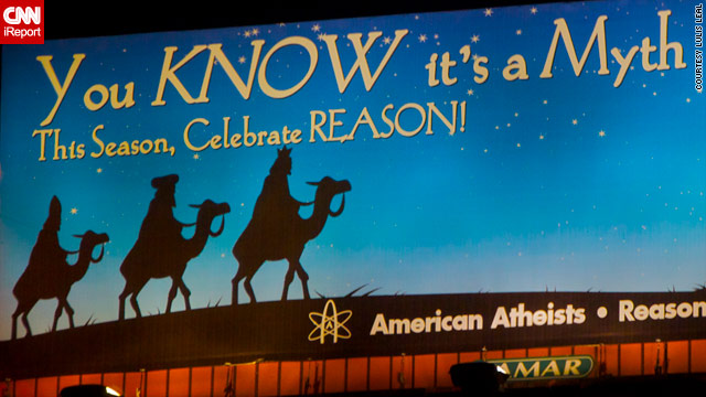 Atheist billboard: Christmas is a myth