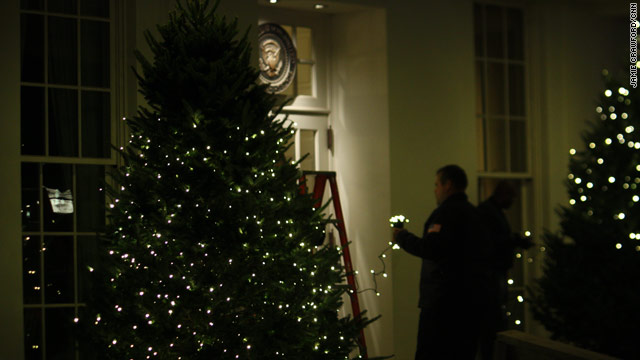 More Christmas trees at the White House