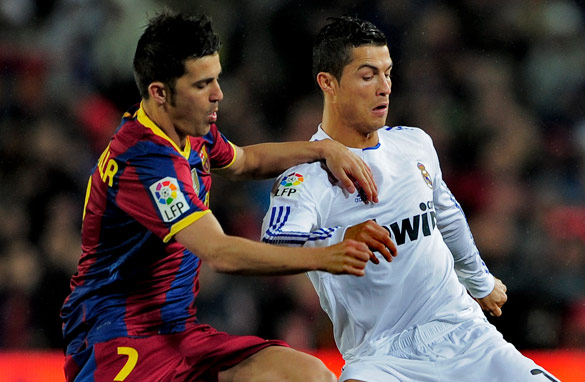 Barcelona's David Villa, left, and Cristiano Ronaldo of Real Madrid are among La Liga's galaxy of stars. (AFP/Getty Images)