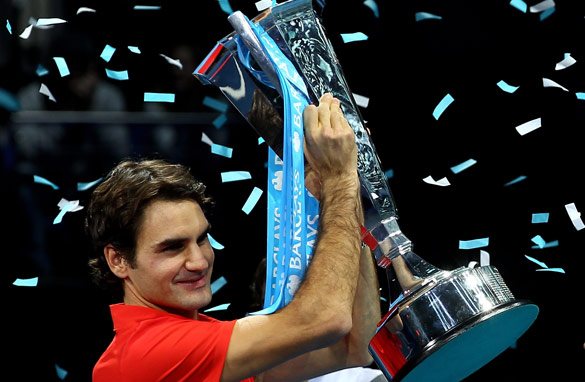 Roger Federer won the season-ending ATP Tour World Finals at London's O2 Arena on Sunday.