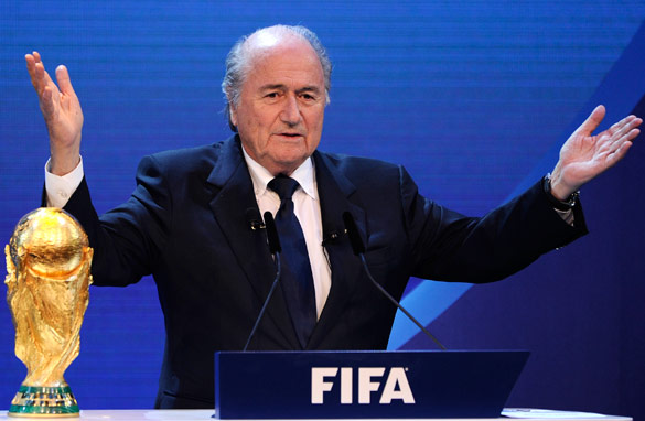 FIFA president Sepp Blatter wants to develop football around the globe. (AFP/Getty Images)
