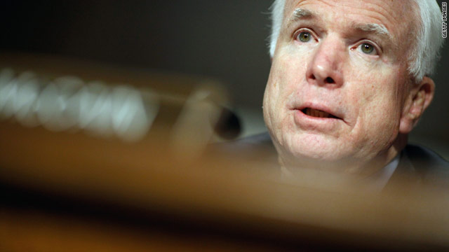 McCain opposes change to gays policy