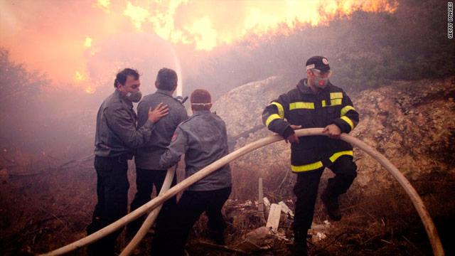 Police suspect arson in Israeli fire