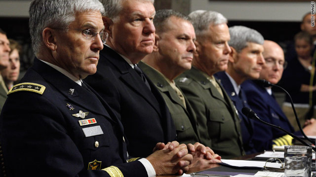 Top military brass splits over 'don't ask, don't tell' repeal
