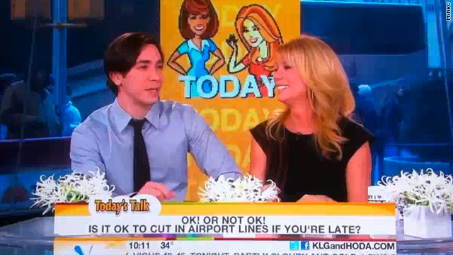 Justin Long co-hosts with Kathie Lee