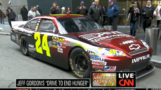 Jeff Gordon driving to end hunger