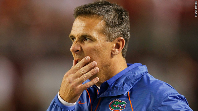 University of Florida head football coach Urban Meyer steps down